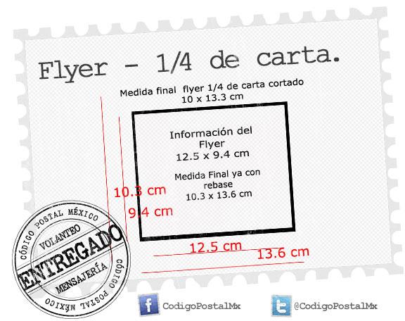Caracter sticas del flyer o volante publicitario for Cuanto es un cuarto